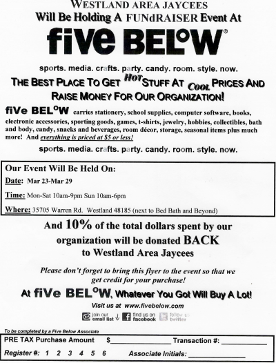 Five Below Fundraiser